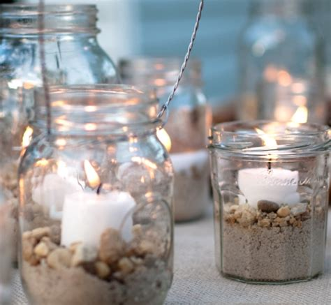 deco pot yaourt verre light up your summer with jar candle holders a mismatched of jars sits