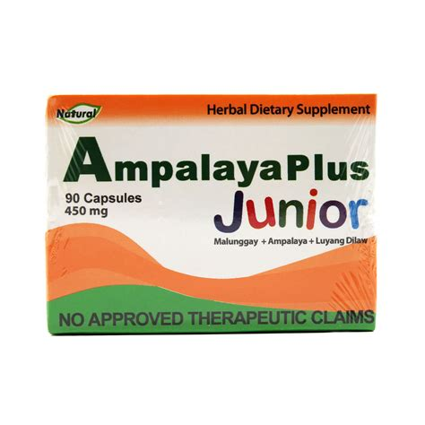 Ampalaya Plus Junior 450mg 90capsules Natural Food