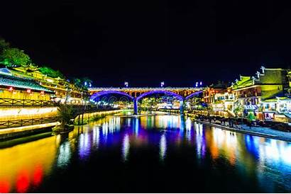Fenghuang China Ancient Stadt Ciudad Bridge Town