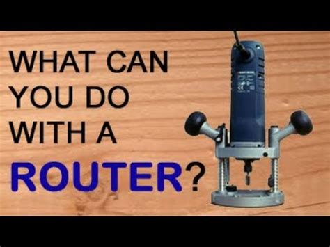 woodworking router youtube