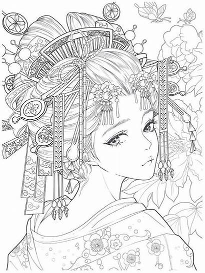 Coloring Anime Pages Adults Fairy Chinese Manga