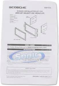 scosche gm1595b double din installation dash kit for With scosche amp wiring kit installation