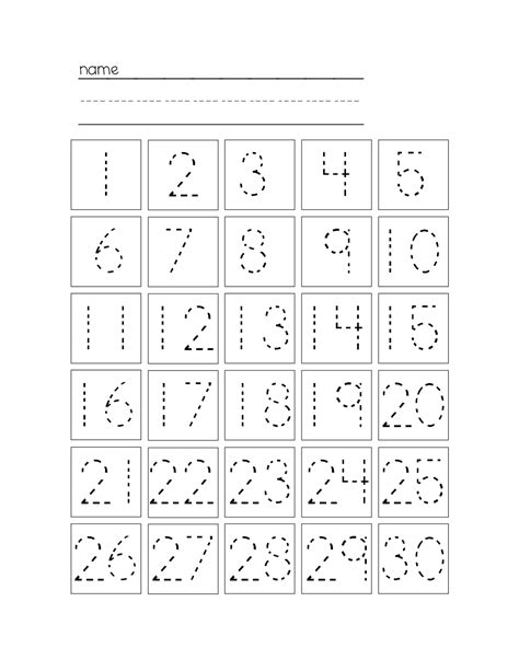28 free printable tracing numbers 1 20 worksheets i