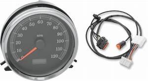 Drag Specialties Speedo Speedometer  U0026 Harness For 96