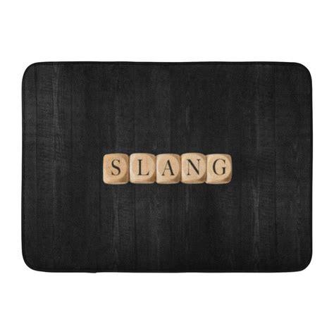 doormat slang godpok communication alphabet slang word on wooden cubes