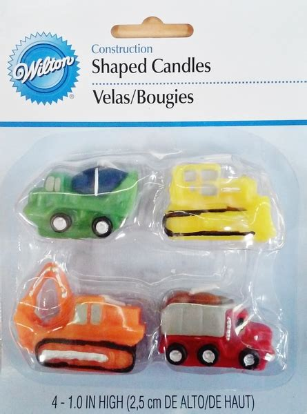 candle construction construction vehicles candle set pk 4 ebay
