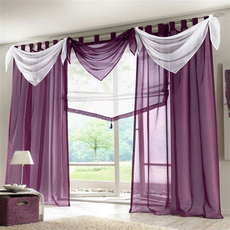 voile sheer ascot valance luxury curtains  living