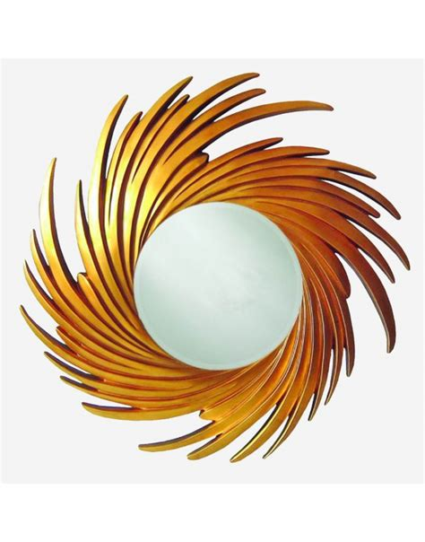 The sleek, smart and streamlined structure and golden powder coated frame accentuates the influences that tivoli has drawn from scandinavian designs and contemporary trends in wall decor. Contemporary Wall Mirror - Decorative Gold Swirl Round ...