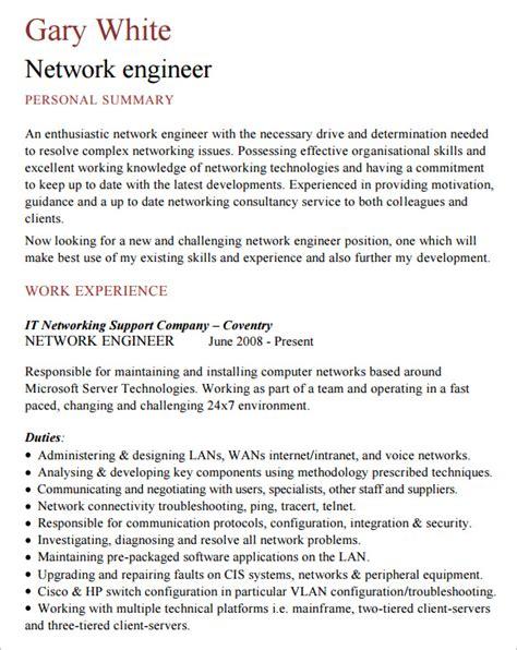network engineer resume 8 free sles exles format