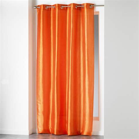 rideau quot shana quot 140x240cm orange brique