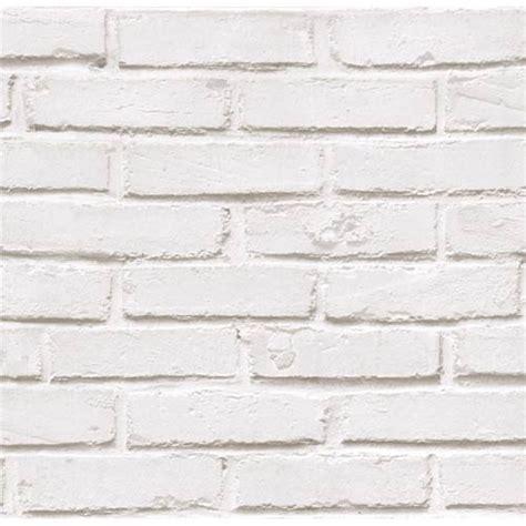 papier peint quot mur de brique quot lutece coloris blanc tous