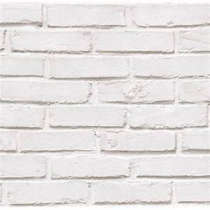 Mur Brique Blanc : papier peint mur de brique lutece coloris blanc tous les produits papiers peints prixing ~ Mglfilm.com Idées de Décoration
