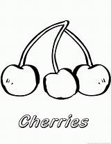 Cherry Fruit 123coloringpages sketch template