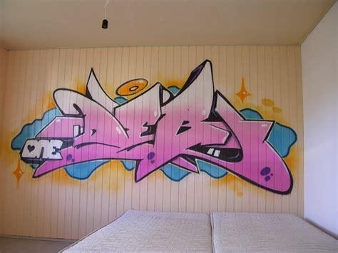 graff chambre prénom graffiti personnage