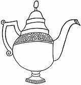 Teapot Coloring Pages Print Teapot2 sketch template