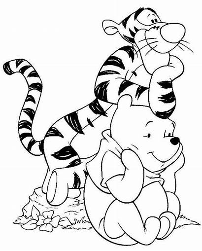 Coloring Disney Pages Character Characters Cartoon Colouring