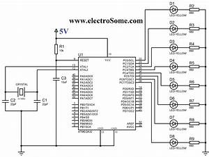 Blinking Led Using Atmega32 Atmel Avr Microcontroller And