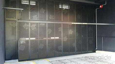 custom perforated aluminium garage door  graphic