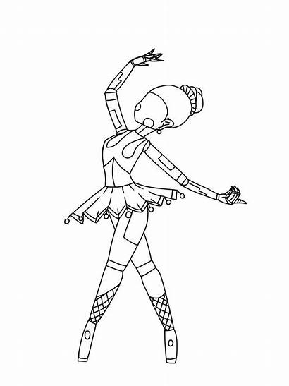 Ballora Coloring Pages Freddy Nights Five Fnaf