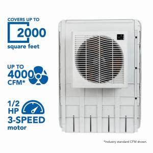 mastercool  cfm slim profile window evaporative cooler