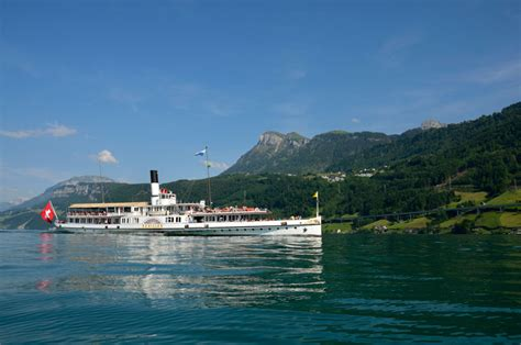 Hergiswil To Lucerne By Boat by Swiss Glasi Hergiswil