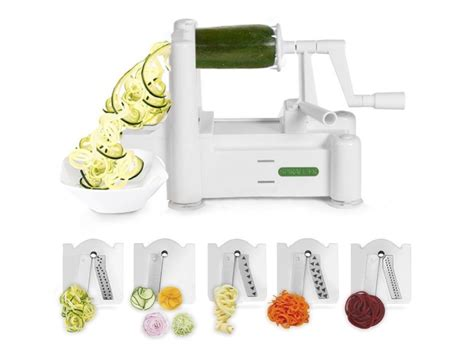 paderno cuisine spiral vegetable slicer the best spiralizers you can buy to veggie noodles