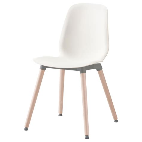 chaises design blanche leifarne chair white ernfrid birch ikea