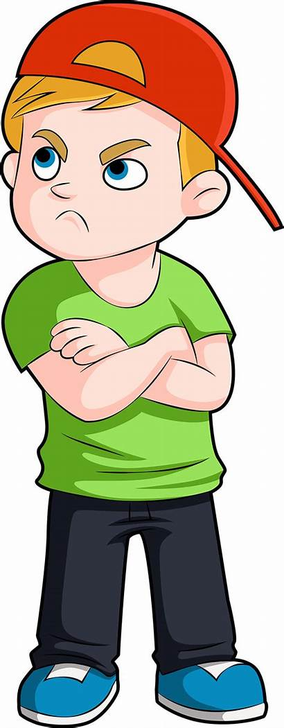 Boy Upset Arms Crossed Young Clipart Clip