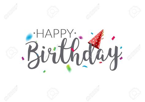 stock vector birthday typography happy birthday
