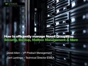 How to efficiently manage Novell GroupWise Security ...