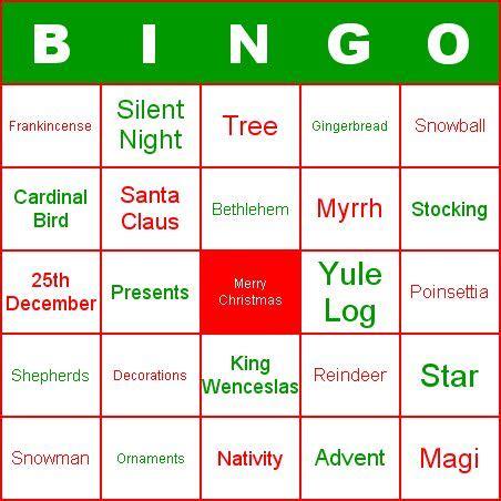 blank bingo card patterns hobies christmas bingo