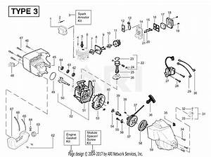 Poulan Xt200 Gas Trimmer Type 3 Parts Diagram For Engine