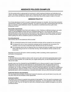 absence policies template sample form biztreecom With attendance policy template