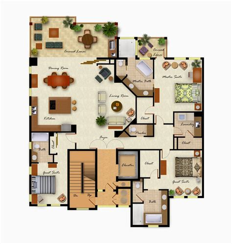 foundation dezin decor colorful furniture floor layout