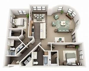 best 25 4 bedroom apartments ideas on pinterest With three bedroom apartment planning idea