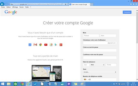 gmail bureau module 1 initiation créer une adresse mail