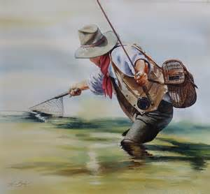 Fly Fishing Watercolor Paintings