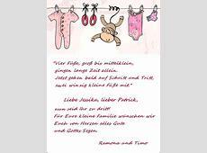 Beispiele für Geburtskarten mit Gedicht