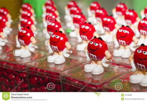 Red M&m's Souvenir Toy Editorial Stock Photo