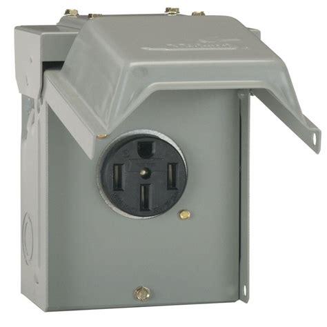 50 rv hookup power outlet circuit breaker receptacle