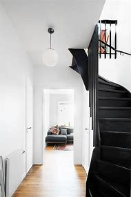 Black Painted Stair Risers