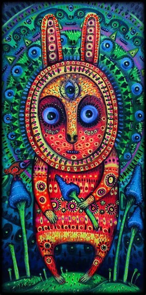 magic rabbit psychedelic rabbit on magic mushrooms psychedelic