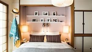 Idee De Tete De Lit : t te de lit avec rangement gain de place et d coration ~ Teatrodelosmanantiales.com Idées de Décoration