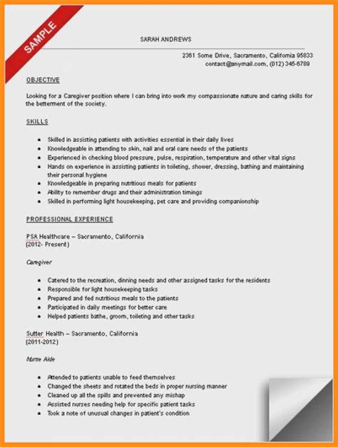Resume For Caregiver by 10 11 Caregivers Resume Exles Lascazuelasphilly