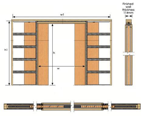 replacement interior door impero slide pocket door kit sliding doorstuff