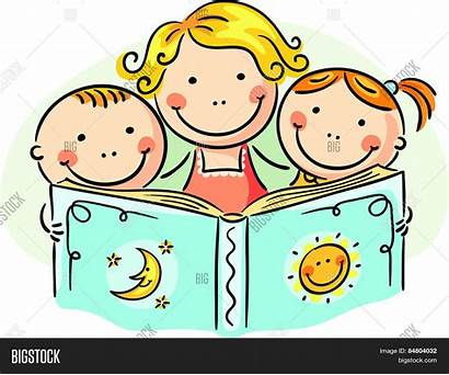 Reading Together Clipart Mother Bigstock Clipartmag