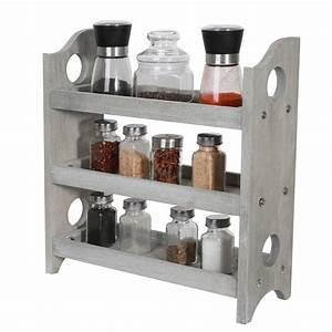 3-tier, wood, spice, rack, organizer, countertop, -, rustic, -, walmart, com