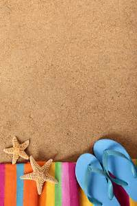 Beach background with flip flops Photo | Free Download