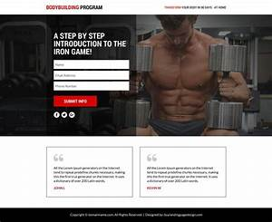 Bodybuilding Lead Funnel Responsive Landing Page