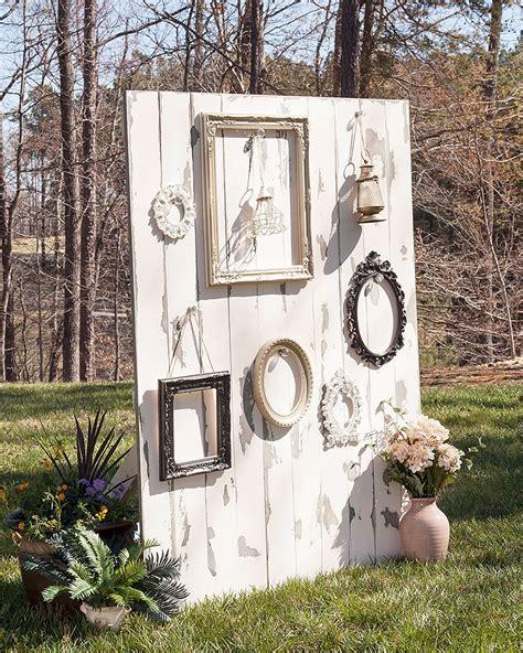 Diy Outdoor Photo Backdrop by Diy Branch Shelf Outdoor Wedding Inspiration Rustic